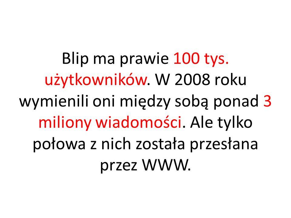 Blip ma prawie 100 tys.użytkowników.