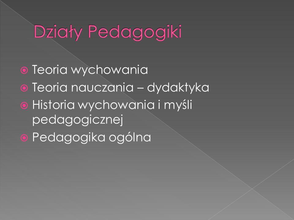Wychowanie to świadome i celowe działanie pedagogiczne zmierzające do osiągnięcia względnie stałych skutków (zmian rozwojowych) w osobowości wychowanka.