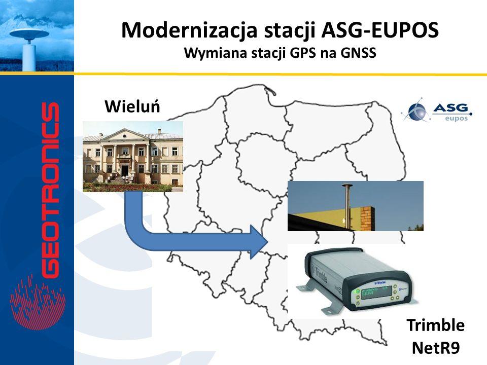Modernizacja stacji ASG-EUPOS Wieluń Trimble NetR9 Wymiana stacji GPS na GNSS