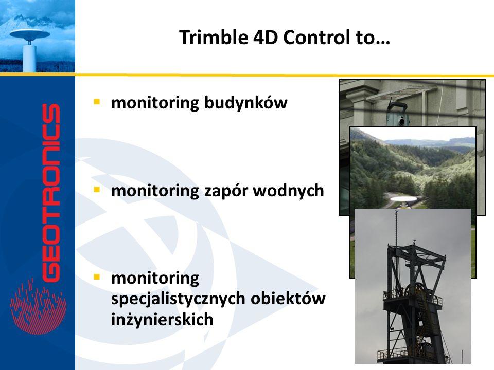 monitoring budynków monitoring zapór wodnych monitoring specjalistycznych obiektów inżynierskich Trimble 4D Control to…