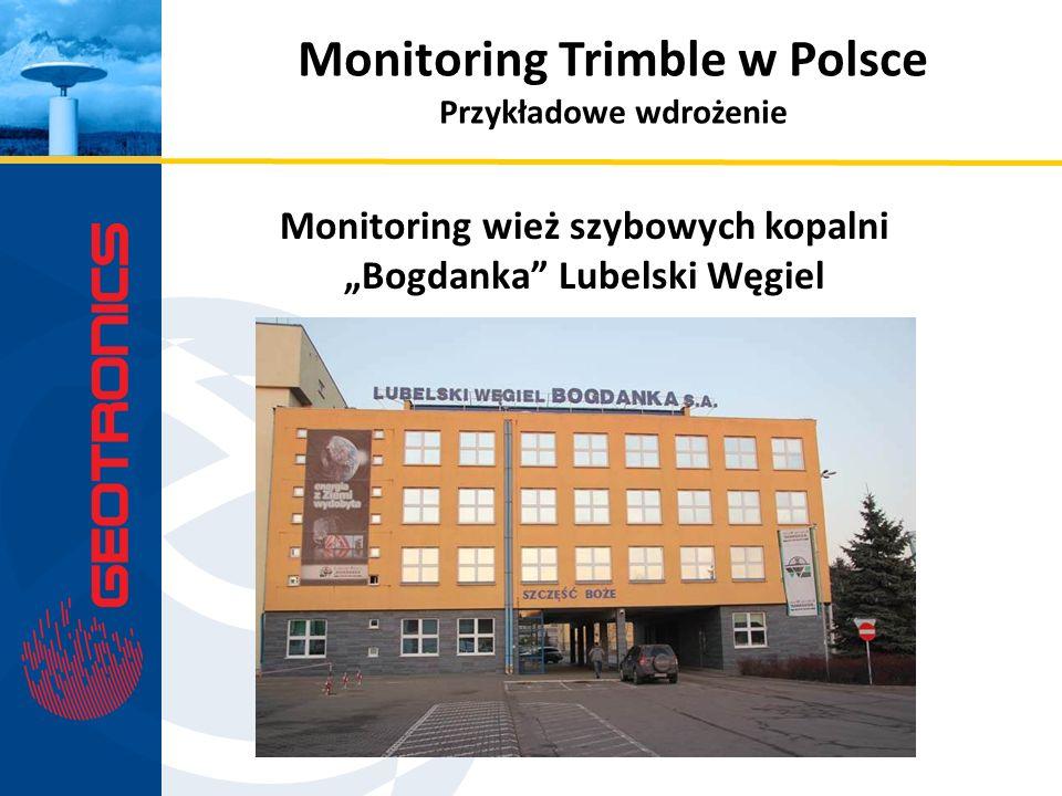 Monitoring wież szybowych kopalni Bogdanka Lubelski Węgiel Monitoring Trimble w Polsce Przykładowe wdrożenie