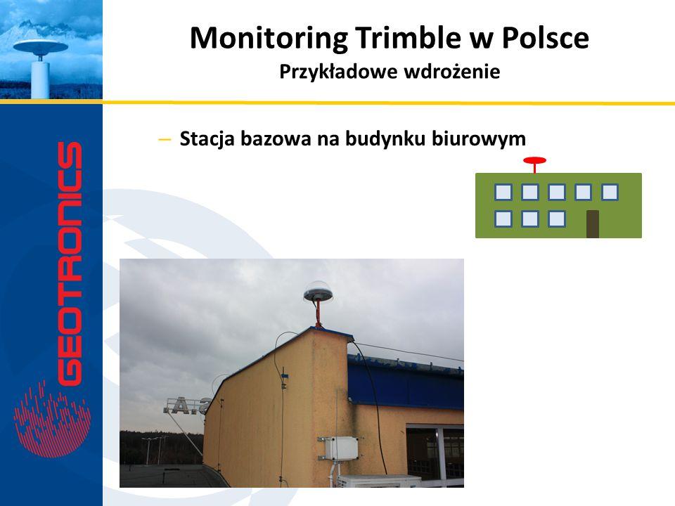– Stacja bazowa na budynku biurowym Monitoring Trimble w Polsce Przykładowe wdrożenie