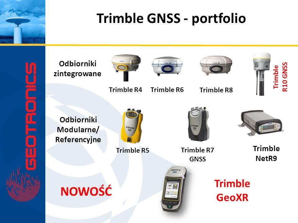 Odbiorniki zintegrowane Odbiorniki Modularne/ Referencyjne Trimble R4 Trimble R6 Trimble R8 Trimble R5 Trimble R7 GNSS Trimble NetR9 NOWOŚĆ Trimble Ge