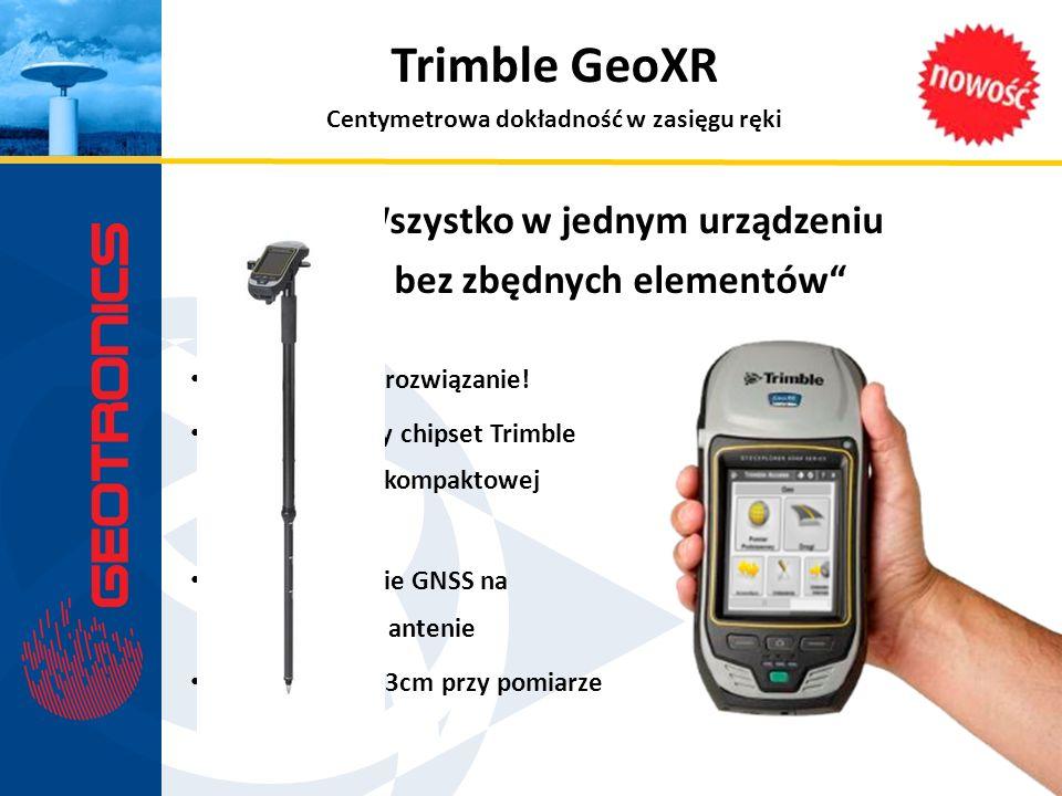 Rewolucyjne rozwiązanie! 220-kanałowy chipset Trimble Maxwell 6 w kompaktowej obudowie Pełne wsparcie GNSS na wewnętrznej antenie Dokładność <3cm przy