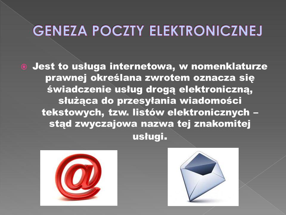 Jest to usługa internetowa, w nomenklaturze prawnej określana zwrotem oznacza się świadczenie usług drogą elektroniczną, służąca do przesyłania wiadom