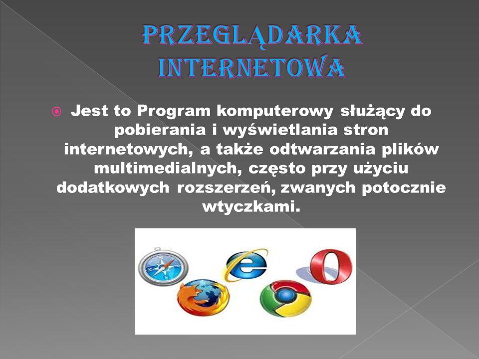 Jest to Program komputerowy służący do pobierania i wyświetlania stron internetowych, a także odtwarzania plików multimedialnych, często przy użyciu d