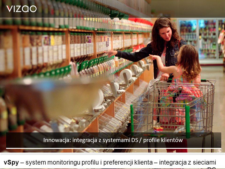vSpy – system monitoringu profilu i preferencji klienta – integracja z sieciami DS Innowacja: integracja z systemami DS / profile klientów