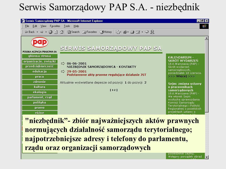 Serwis Samorządowy PAP S.A. - niezbędnik