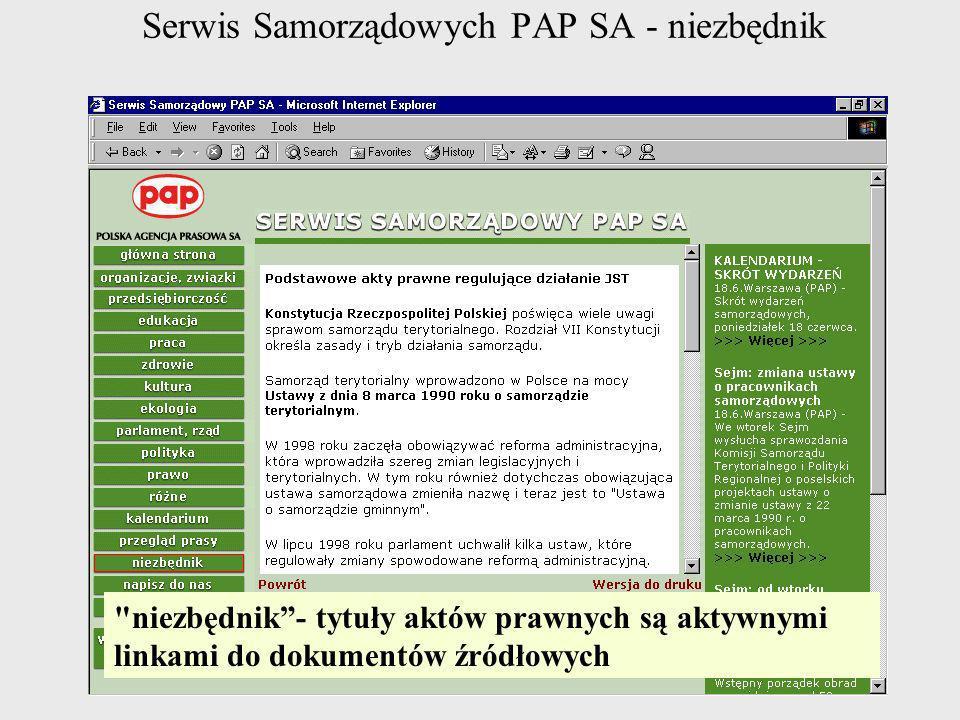 Serwis Samorządowych PAP SA - niezbędnik