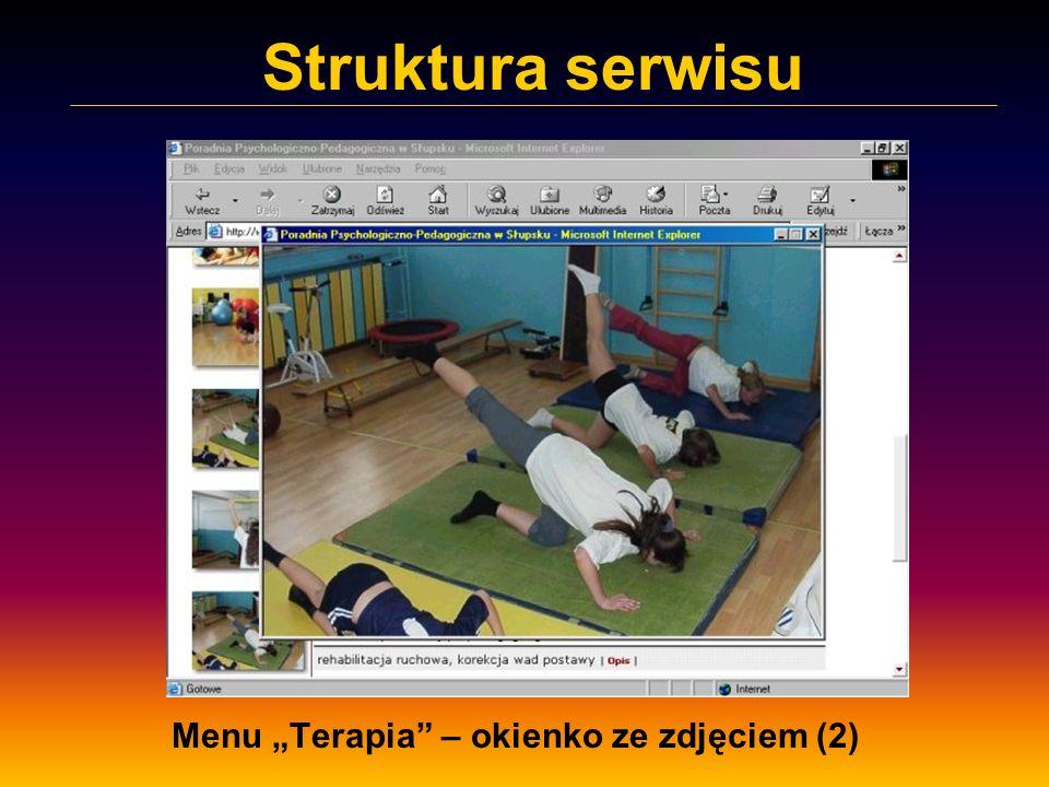 Struktura serwisu Menu Terapia – okienko ze zdjęciem (2)