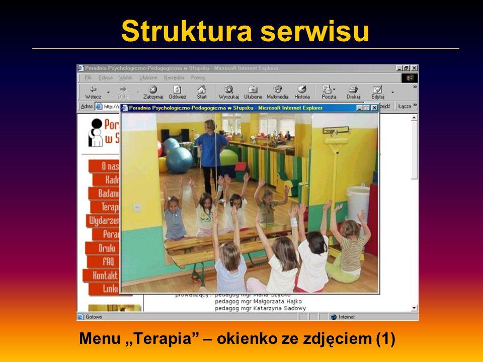 Struktura serwisu Menu Terapia – okienko ze zdjęciem (1)