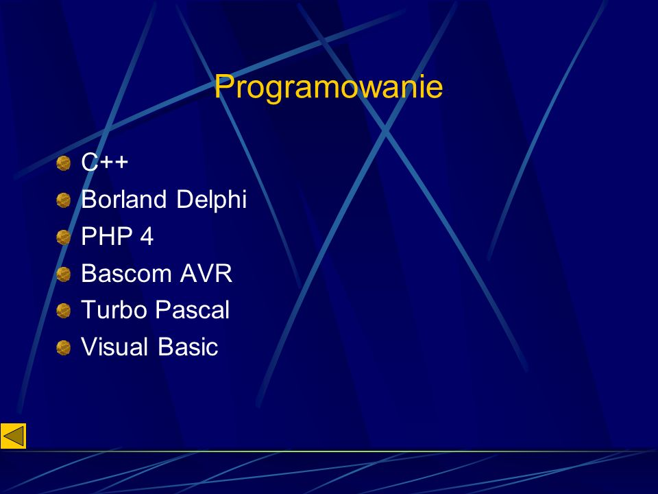 Programowanie C++ Borland Delphi PHP 4 Bascom AVR Turbo Pascal Visual Basic