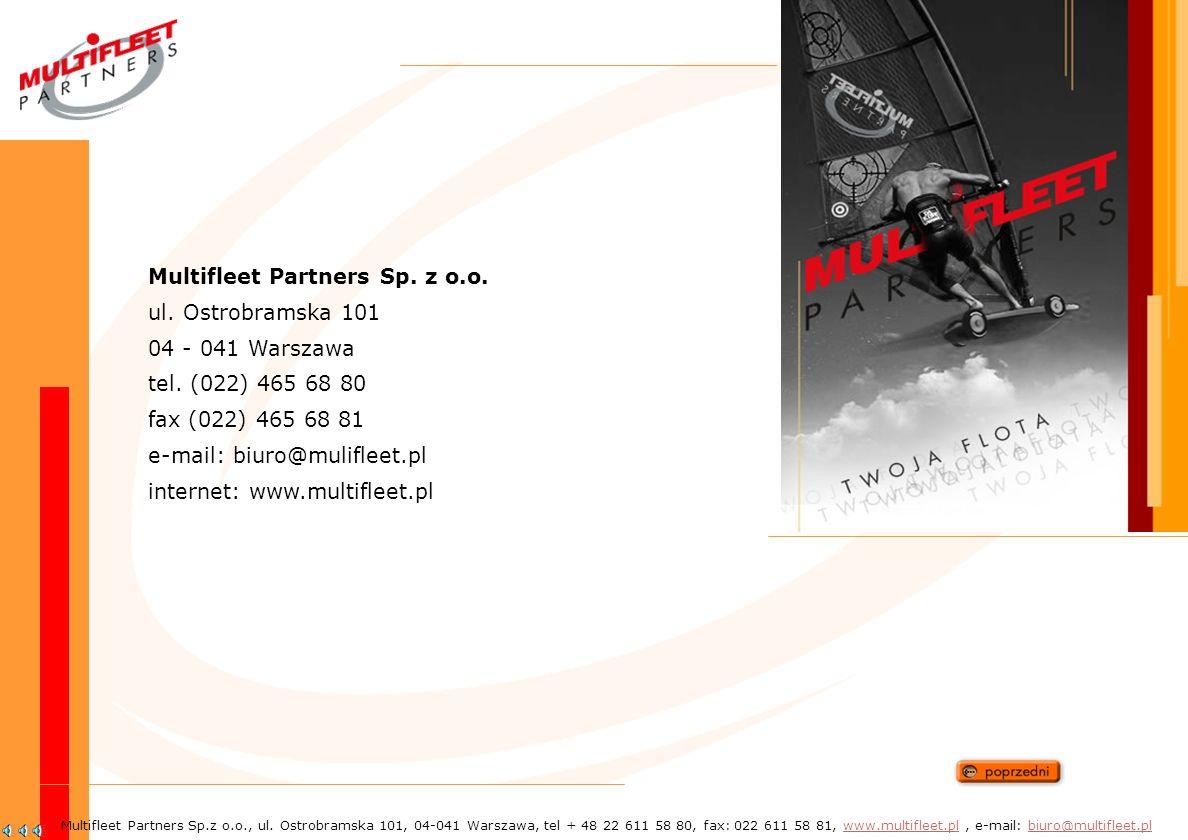 Nasze plany i wyzwania Multifleet Partners Sp.z o.o., ul.