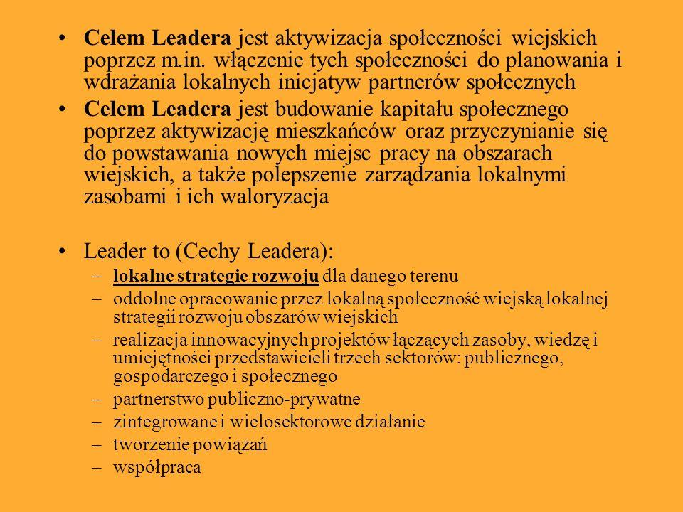 Celem Leadera jest aktywizacja społeczności wiejskich poprzez m.in. włączenie tych społeczności do planowania i wdrażania lokalnych inicjatyw partneró