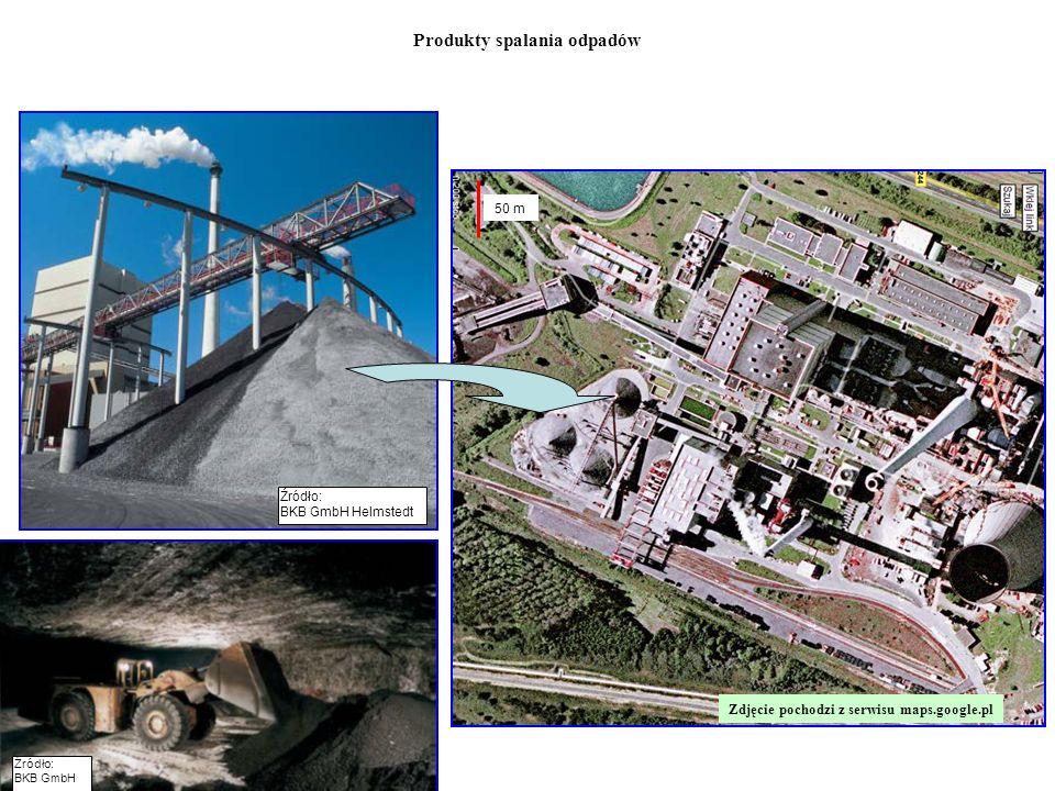 Zdjęcie pochodzi z serwisu maps.google.pl 50 m Źródło: BKB GmbH Helmstedt Źródło: BKB GmbH Produkty spalania odpadów