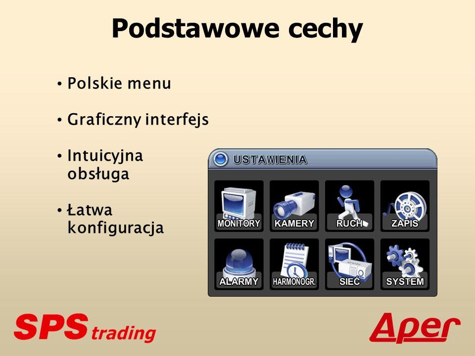Podstawowe cechy Polskiemenu Graficzny interfejs Intuicyjna obsługa Łatwa konfiguracja
