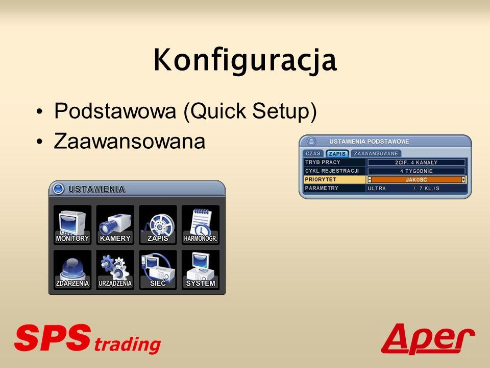 Konfiguracja Podstawowa (Quick Setup) Zaawansowana