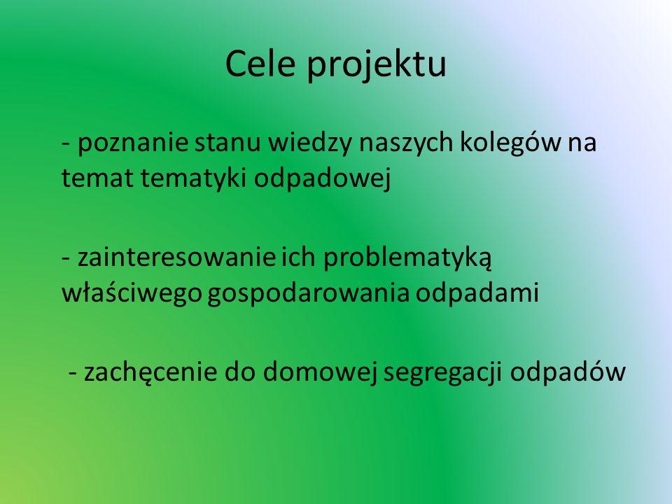 W ramach projektu realizowane były następujące zadania: