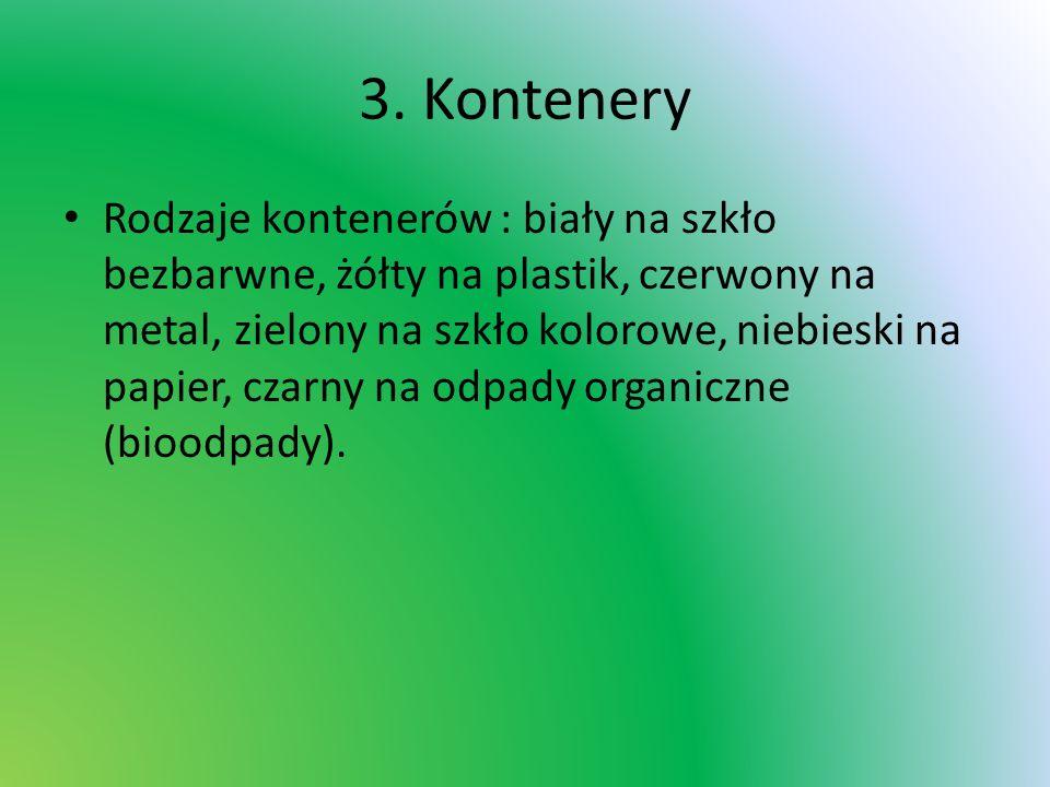 Kontenery w Radomiu -Sródmieście (od ul.Skłodowskie-Curie do ul.