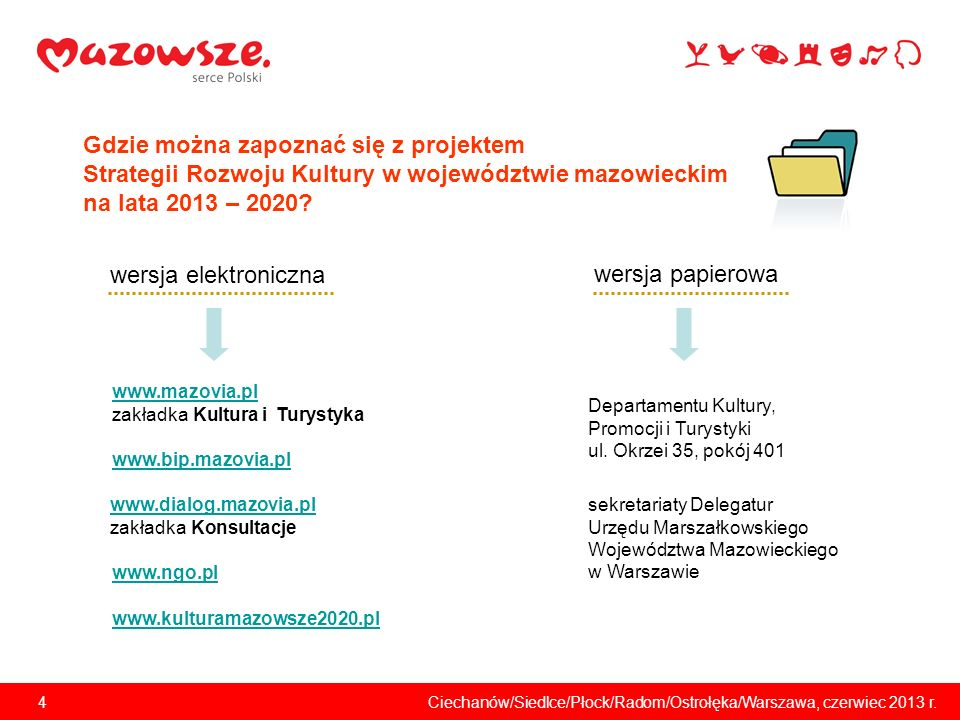 5Ciechanów/Siedlce/Płock/Radom/Ostrołęka/Warszawa, czerwiec 2013 r.