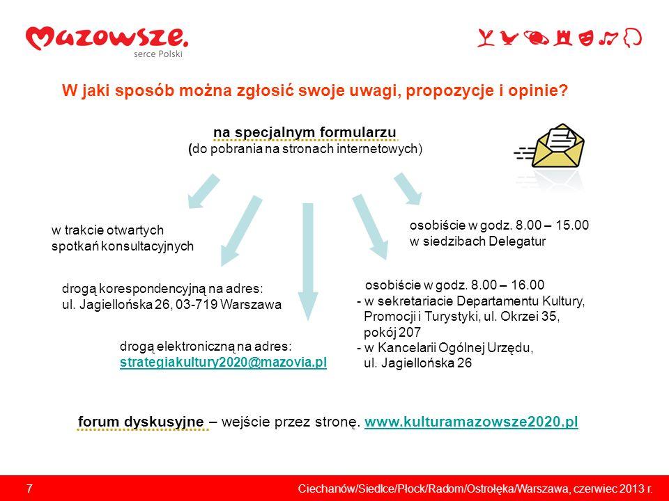 7Ciechanów/Siedlce/Płock/Radom/Ostrołęka/Warszawa, czerwiec 2013 r.