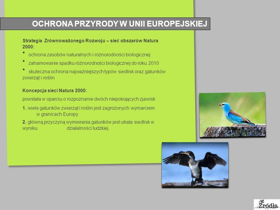 OBSZARY NATURA 2000 Natura 2000: podstawowa forma obszarowej ochrony przyrody we Wspólnocie Europejskiej.