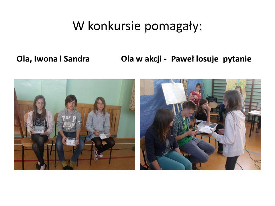 W konkursie pomagały: Ola, Iwona i SandraOla w akcji - Paweł losuje pytanie