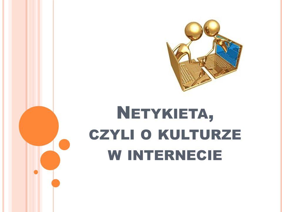 N ETYKIETA - INTERNETOWY SAVOIR - VIVRE