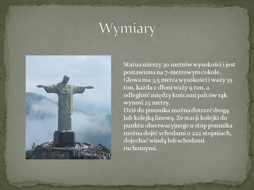 Statua mierzy 30 metrów wysokości i jest postawiona na 7-metrowym cokole. Głowa ma 3,5 metra wysokości i waży 35 ton, każda z dłoni waży 9 ton, a odle