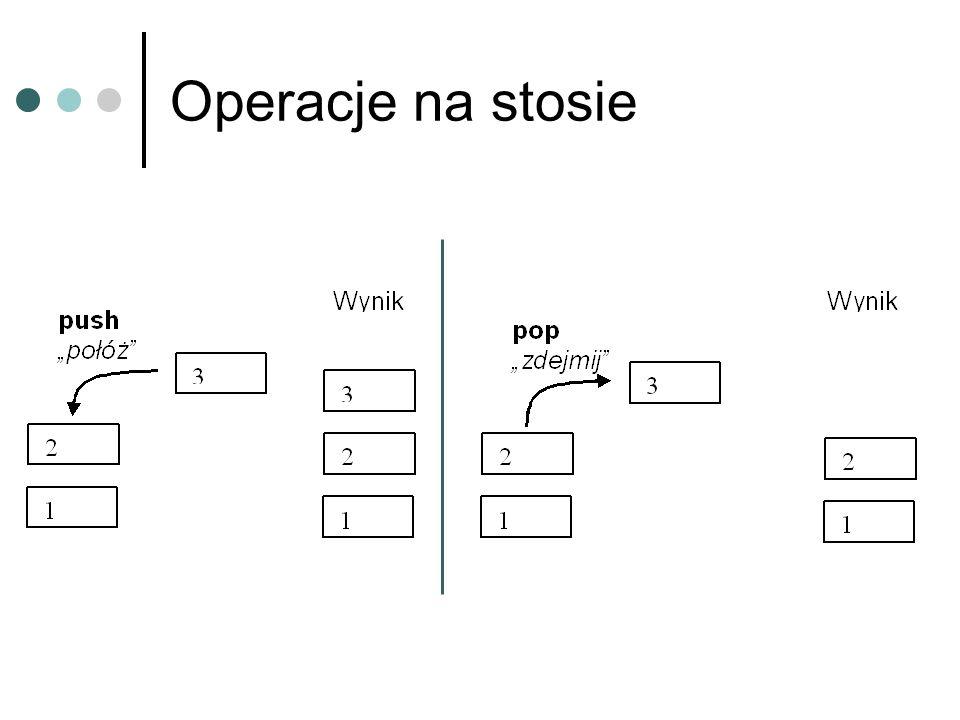 Kolejka Struktura, w której dostęp do danych możliwy jest z dwóch końców, z tym, że z jednego końca dane są usuwane a do drugiego dodawane.