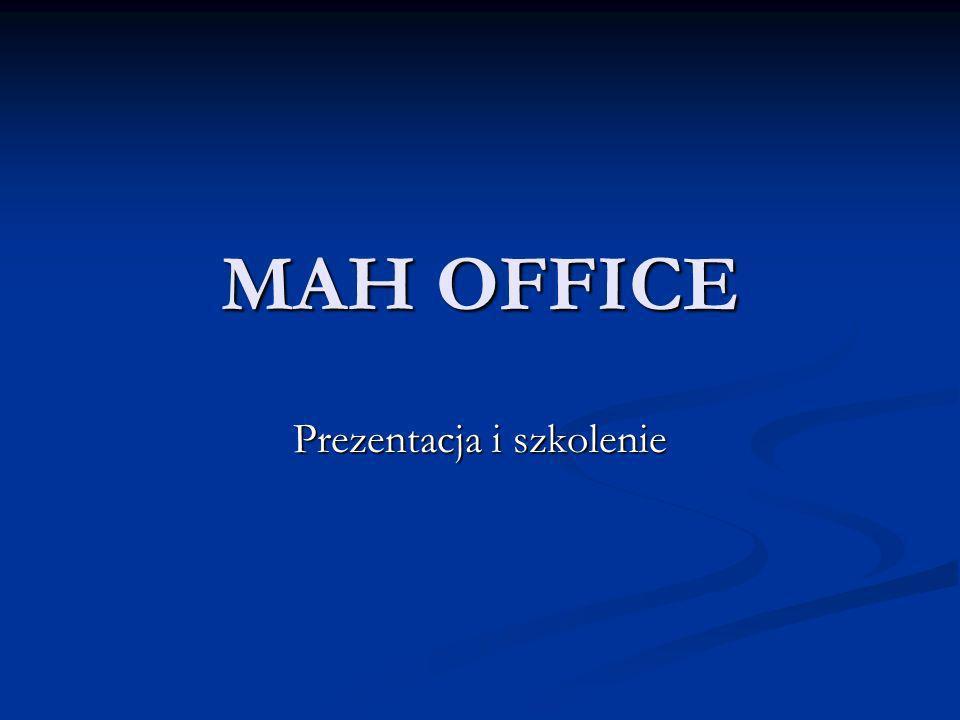 MAH OFFICE Prezentacja i szkolenie