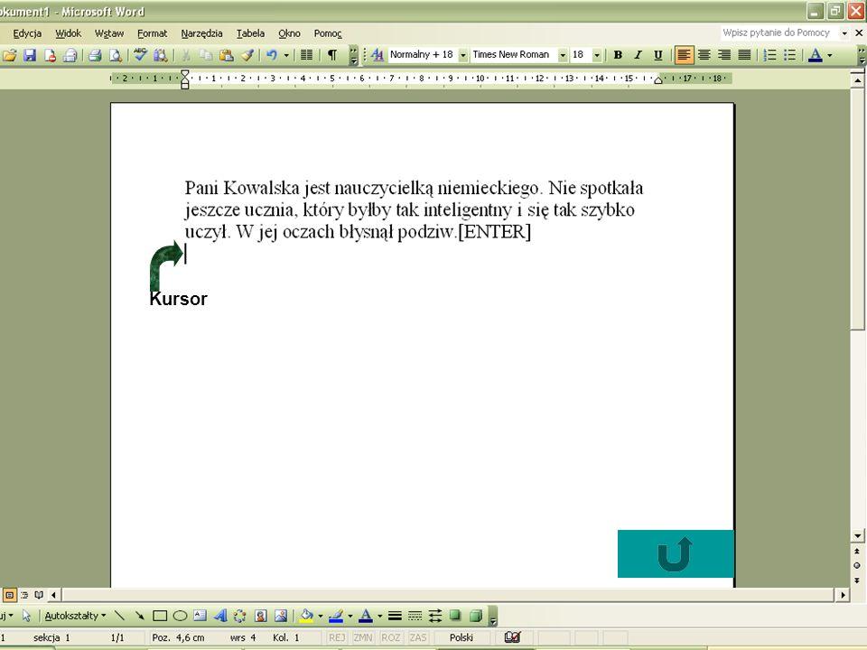 Pytanie 3 Co oznacza przycisk : a) pogrubienie czcionki b) podkreślenie czcionki c) kursywa