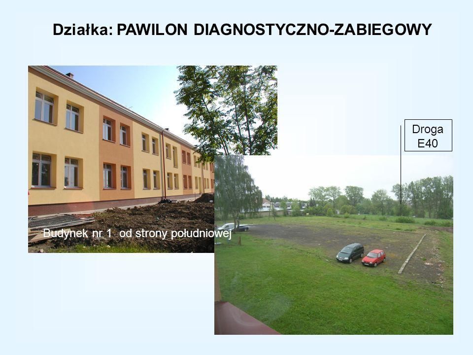 Działka: PAWILON DIAGNOSTYCZNO-ZABIEGOWY Budynek nr 1 od strony południowej Droga E40