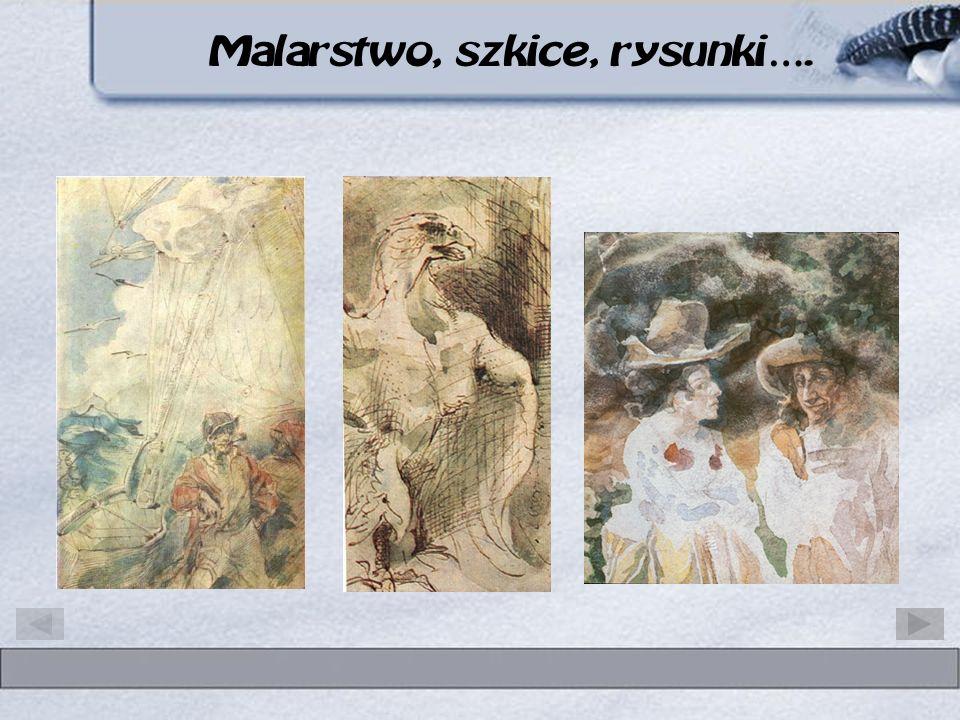 Malarstwo, szkice, rysunki…. Cyprian Kamil Norwid patron III Liceum w Koninie