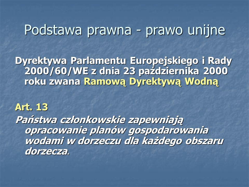 Polskie prawo Ustawa z dnia 18 lipca 2001r.Prawo Wodne (Dz.