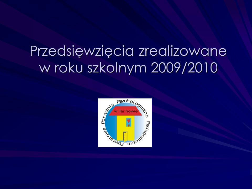 Przedsięwzięcia zrealizowane w roku szkolnym 2009/2010