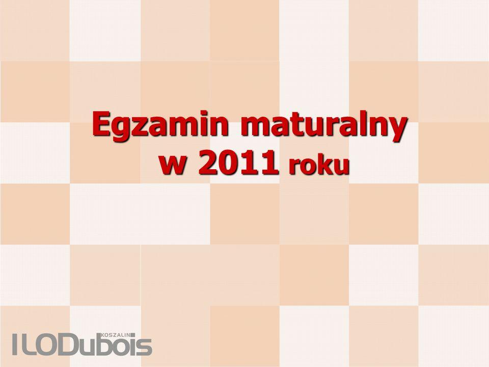 Egzamin maturalny w 2011 roku