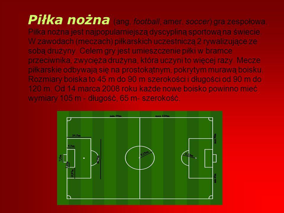 Piłka nożna (ang. football, amer. soccer) gra zespołowa. Piłka nożna jest najpopularniejszą dyscypliną sportową na świecie. W zawodach (meczach) piłka
