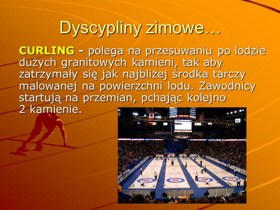 Dyscypliny zimowe… BOBSLEJE - to dyscyplina, w której zawodnicy zjeżdżają na specjalnych saniach (zw.