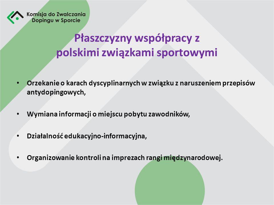 Płaszczyzny współpracy z polskimi związkami sportowymi Orzekanie o karach dyscyplinarnych w związku z naruszeniem przepisów antydopingowych, Wymiana i