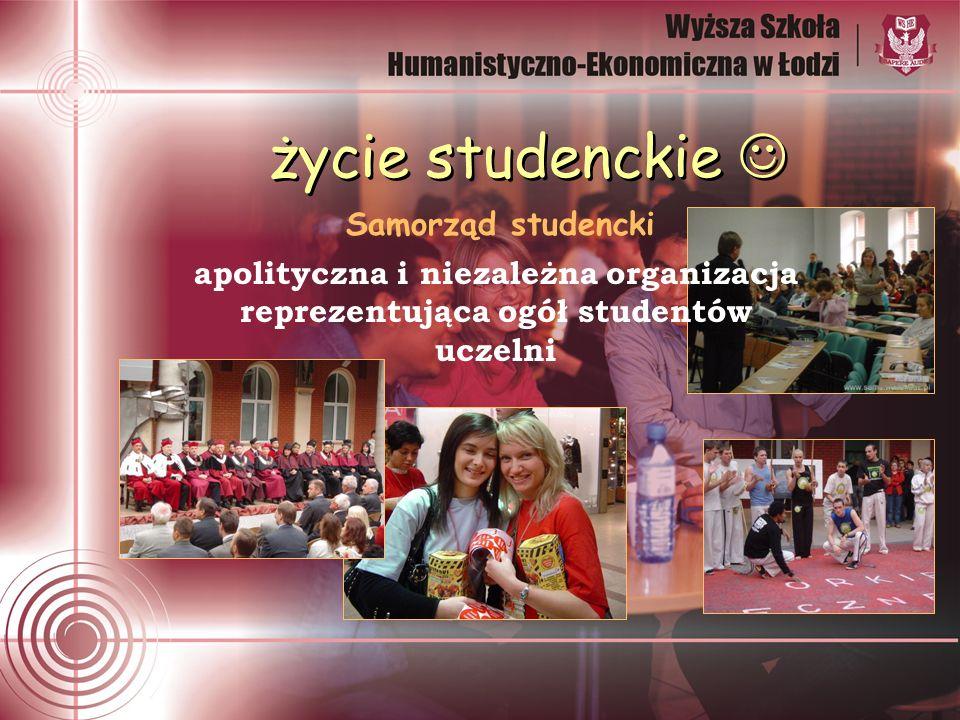 życie studenckie apolityczna i niezależna organizacja reprezentująca ogół studentów uczelni Samorząd studencki