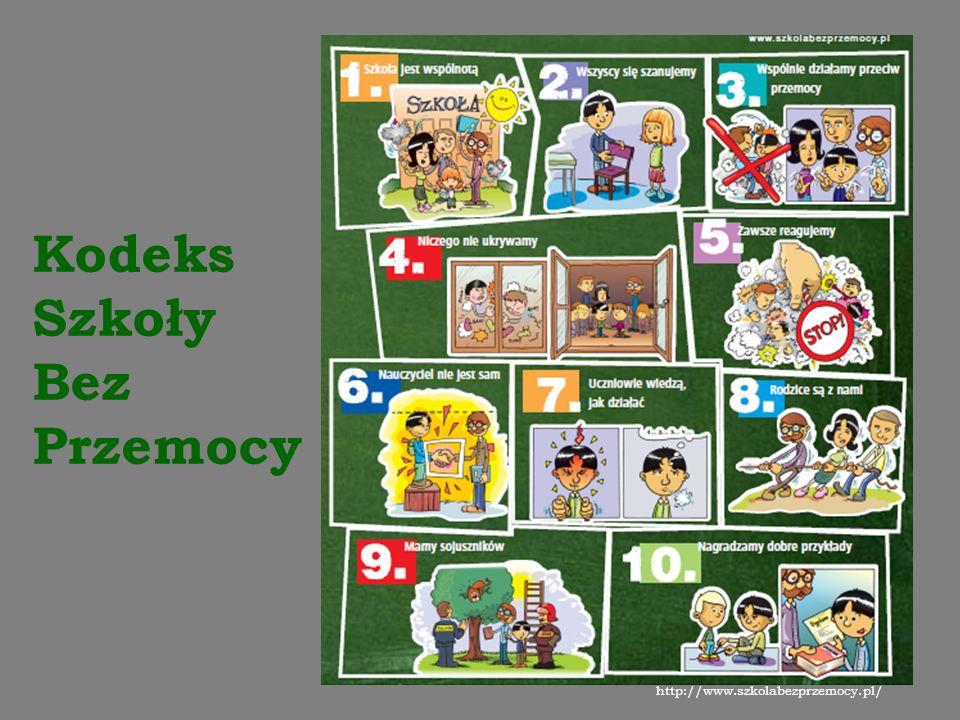 Kodeks Szkoły Bez Przemocy http://www.szkolabezprzemocy.pl/