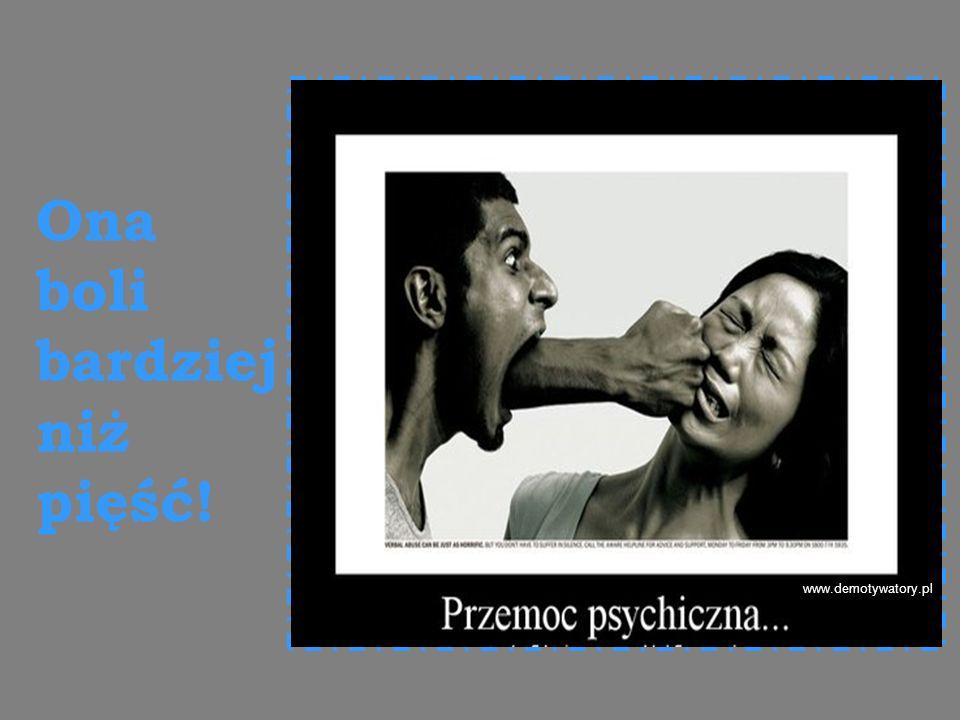 www.demotywatory.pl Ona boli bardziej niż pięść!
