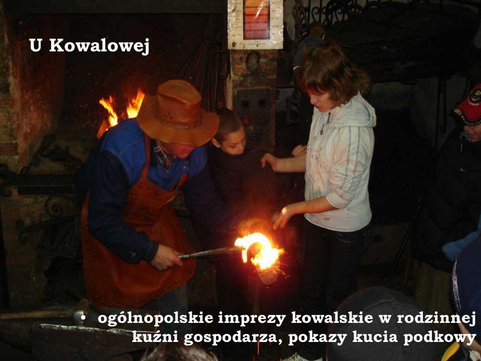 U Kowalowej ogólnopolskie imprezy kowalskie w rodzinnej kuźni gospodarza, pokazy kucia podkowy