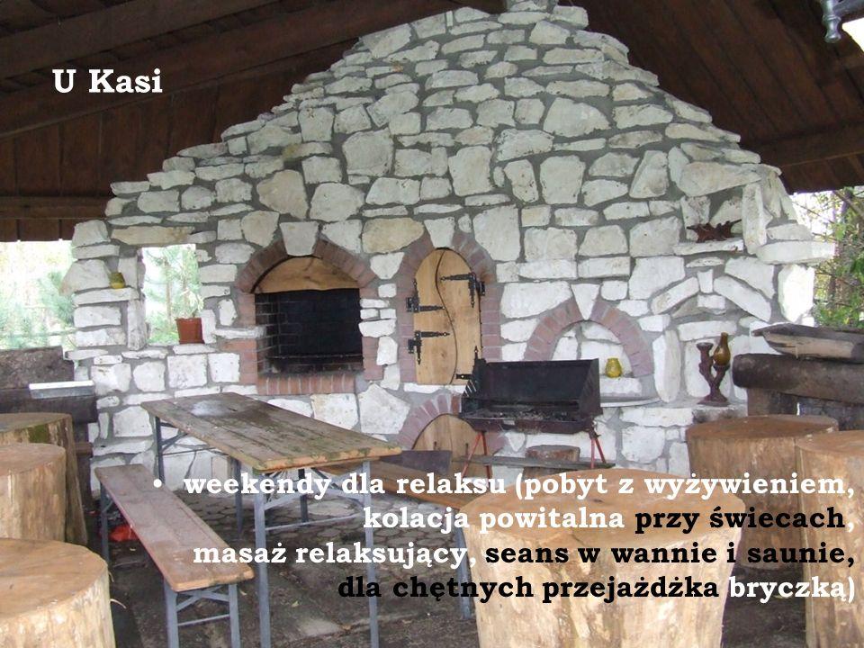 U Kasi weekendy dla relaksu (pobyt z wyżywieniem, kolacja powitalna przy świecach, masaż relaksujący, seans w wannie i saunie, dla chętnych przejażdżk