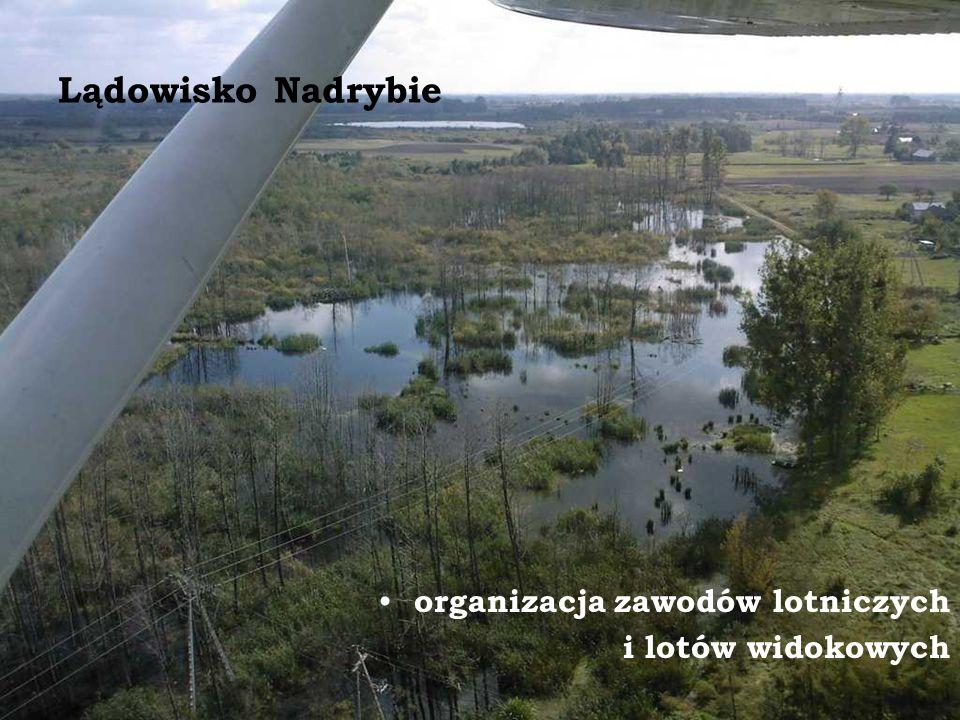 Lądowisko Nadrybie organizacja zawodów lotniczych i lotów widokowych