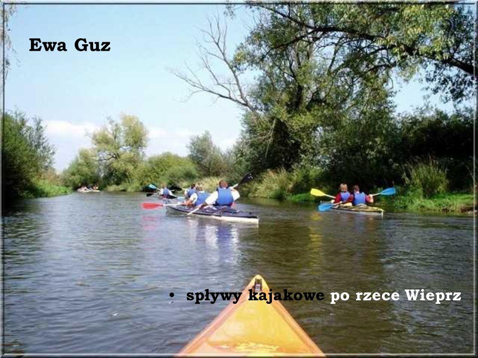 Ewa Guz spływy kajakowe po rzece Wieprz
