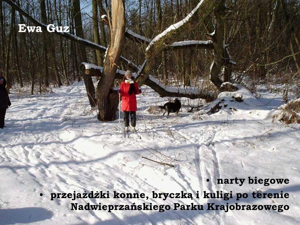 Ewa Guz narty biegowe przejażdżki konne, bryczką i kuligi po terenie Nadwieprzańskiego Parku Krajobrazowego