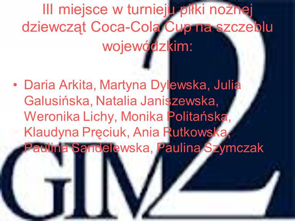 Tomasz Witczak - III A laureat powiatowego konkursu z języka niemieckiego organizowanego przez Gimnazjum nr 2 im.