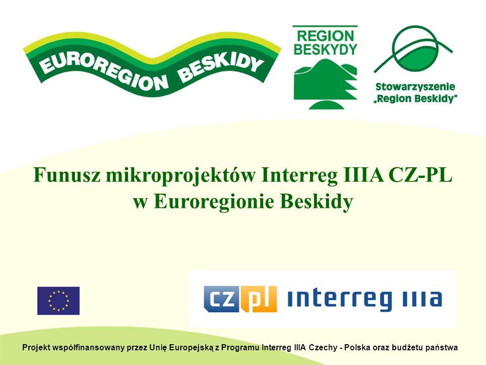 łączna kwota dofinansowania z EFRR, na którą zakontraktowano mikroprojekty: 493.415,25 PLN dostępna łączna kwota dofinansowania z EFRR: 493.416,00 PLN Mikroprojekty Interreg IIIA CZ-PL w polskiej części Euroregionu Beskidy